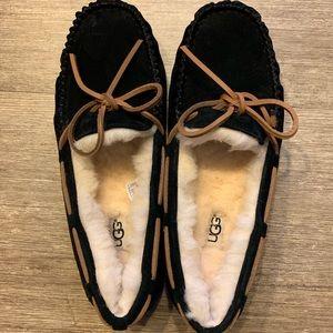 UGG Dakota Slipper Moccasins Black